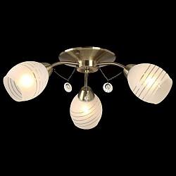 Потолочная люстра EurosvetНе более 4 ламп<br>Артикул - EV_76626,Бренд - Eurosvet (Китай),Коллекция - Лаура,Гарантия, месяцы - 24,Высота, мм - 170,Диаметр, мм - 570,Тип лампы - компактная люминесцентная [КЛЛ] ИЛИнакаливания ИЛИсветодиодная [LED],Общее кол-во ламп - 3,Напряжение питания лампы, В - 220,Максимальная мощность лампы, Вт - 60,Лампы в комплекте - отсутствуют,Цвет плафонов и подвесок - белый полосатый,Тип поверхности плафонов - матовый,Материал плафонов и подвесок - стекло,Цвет арматуры - бронза античная,Тип поверхности арматуры - матовый,Материал арматуры - металл,Возможность подлючения диммера - можно, если установить лампу накаливания,Тип цоколя лампы - E27,Класс электробезопасности - I,Общая мощность, Вт - 180,Степень пылевлагозащиты, IP - 20,Диапазон рабочих температур - комнатная температура,Дополнительные параметры - способ крепления светильника к потолку - на монтажной пластине<br>