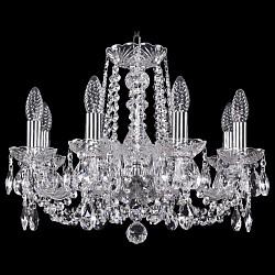 Подвесная люстра Bohemia Ivele CrystalБолее 6 ламп<br>Артикул - BI_1402_8_160_Ni,Бренд - Bohemia Ivele Crystal (Чехия),Коллекция - 1402,Гарантия, месяцы - 24,Высота, мм - 410,Диаметр, мм - 510,Размер упаковки, мм - 450x450x200,Тип лампы - компактная люминесцентная [КЛЛ] ИЛИнакаливания ИЛИсветодиодная [LED],Общее кол-во ламп - 8,Напряжение питания лампы, В - 220,Максимальная мощность лампы, Вт - 40,Лампы в комплекте - отсутствуют,Цвет плафонов и подвесок - неокрашенный,Тип поверхности плафонов - прозрачный,Материал плафонов и подвесок - хрусталь,Цвет арматуры - неокрашенный, никель,Тип поверхности арматуры - глянцевый, прозрачный, рельефный,Материал арматуры - металл, стекло,Возможность подлючения диммера - можно, если установить лампу накаливания,Форма и тип колбы - свеча ИЛИ свеча на ветру,Тип цоколя лампы - E14,Класс электробезопасности - I,Общая мощность, Вт - 320,Степень пылевлагозащиты, IP - 20,Диапазон рабочих температур - комнатная температура,Дополнительные параметры - способ крепления светильника к потолку - на крюке, указана высота светильника без подвеса<br>