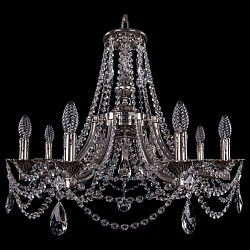 Подвесная люстра Bohemia Ivele CrystalБолее 6 ламп<br>Артикул - BI_1771_8_220_C_NB,Бренд - Bohemia Ivele Crystal (Чехия),Коллекция - 1771,Гарантия, месяцы - 24,Высота, мм - 620,Диаметр, мм - 690,Размер упаковки, мм - 640x640x320,Тип лампы - компактная люминесцентная [КЛЛ] ИЛИнакаливания ИЛИсветодиодная [LED],Общее кол-во ламп - 8,Напряжение питания лампы, В - 220,Максимальная мощность лампы, Вт - 40,Лампы в комплекте - отсутствуют,Цвет плафонов и подвесок - неокрашенный,Тип поверхности плафонов - прозрачный,Материал плафонов и подвесок - хрусталь,Цвет арматуры - никель черненый,Тип поверхности арматуры - глянцевый, рельефный,Материал арматуры - латунь,Возможность подлючения диммера - можно, если установить лампу накаливания,Форма и тип колбы - свеча ИЛИ свеча на ветру,Тип цоколя лампы - E14,Класс электробезопасности - I,Общая мощность, Вт - 320,Степень пылевлагозащиты, IP - 20,Диапазон рабочих температур - комнатная температура,Дополнительные параметры - способ крепления светильника к потолку - на крюке, указана высота светильника без подвеса<br>