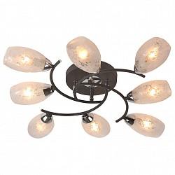 Потолочная люстра IDLampБолее 6 ламп<br>Артикул - ID_215_8PF-Blackchrome,Бренд - IDLamp (Италия),Коллекция - 215,Высота, мм - 100,Диаметр, мм - 700,Тип лампы - компактная люминесцентная [КЛЛ] ИЛИнакаливания ИЛИсветодиодная [LED],Общее кол-во ламп - 8,Напряжение питания лампы, В - 220,Максимальная мощность лампы, Вт - 60,Лампы в комплекте - отсутствуют,Цвет плафонов и подвесок - белый с рисунком,Тип поверхности плафонов - матовый,Материал плафонов и подвесок - стекло,Цвет арматуры - хром, черный,Тип поверхности арматуры - глянцевый, матовый,Материал арматуры - металл,Возможность подлючения диммера - можно, если установить лампу накаливания,Тип цоколя лампы - E14,Класс электробезопасности - I,Общая мощность, Вт - 480,Степень пылевлагозащиты, IP - 20,Диапазон рабочих температур - комнатная температура,Дополнительные параметры - способ крепления светильника к потолку – на монтажной пластине<br>
