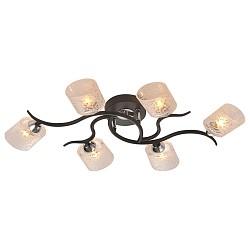 Потолочная люстра IDLamp5 или 6 ламп<br>Артикул - ID_207_6PF-Black,Бренд - IDLamp (Италия),Коллекция - 207,Высота, мм - 110,Тип лампы - галогеновая,Общее кол-во ламп - 6,Напряжение питания лампы, В - 220,Максимальная мощность лампы, Вт - 40,Лампы в комплекте - галогеновые G9,Цвет плафонов и подвесок - белый с рисунком,Тип поверхности плафонов - матовый,Материал плафонов и подвесок - стекло,Цвет арматуры - хром, черный,Тип поверхности арматуры - глянцевый, матовый,Материал арматуры - металл,Возможность подлючения диммера - можно,Форма и тип колбы - пальчиковая,Тип цоколя лампы - G9,Класс электробезопасности - I,Общая мощность, Вт - 240,Степень пылевлагозащиты, IP - 20,Диапазон рабочих температур - комнатная температура,Дополнительные параметры - способ крепления светильника к потолку – на монтажной пластине<br>