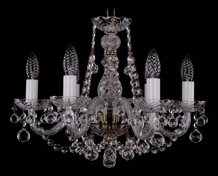 Фото Подвесная люстра Bohemia Ivele Crystal 1406 1406/6/160/Pa/Balls