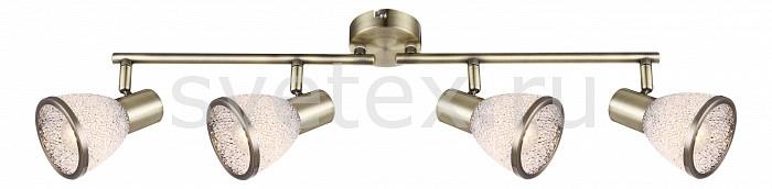 Спот GloboСпоты<br>Артикул - GB_56046-4,Бренд - Globo (Австрия),Коллекция - Elsa,Гарантия, месяцы - 24,Длина, мм - 610,Ширина, мм - 85,Выступ, мм - 145,Размер упаковки, мм - 620x140x90,Тип лампы - светодиодная [LED],Общее кол-во ламп - 4,Напряжение питания лампы, В - 220,Максимальная мощность лампы, Вт - 4,Цвет лампы - белый теплый,Лампы в комплекте - светодиодные [LED] E14,Цвет плафонов и подвесок - неокрашенный с каймой,Тип поверхности плафонов - матовый,Материал плафонов и подвесок - акрил,Цвет арматуры - бронза античная,Тип поверхности арматуры - матовый,Материал арматуры - металл,Количество плафонов - 4,Возможность подлючения диммера - нельзя,Форма и тип колбы - сферическая,Тип цоколя лампы - E14,Цветовая температура, K - 3000 K,Световой поток, лм - 1600,Экономичнее лампы накаливания - в 10.5 раза,Светоотдача, лм/Вт - 100,Класс электробезопасности - I,Общая мощность, Вт - 16,Степень пылевлагозащиты, IP - 20,Диапазон рабочих температур - комнатная температура,Дополнительные параметры - способ крепления светильника к стене и потолку - на монтажной пластине, поворотный светильник<br>