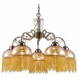 Подвесная люстра Arte Lamp5 или 6 ламп<br>Артикул - AR_A9560LM-5AB,Бренд - Arte Lamp (Италия),Коллекция - Perlina,Гарантия, месяцы - 24,Высота, мм - 430-990,Диаметр, мм - 620,Тип лампы - компактная люминесцентная [КЛЛ] ИЛИнакаливания ИЛИсветодиодная [LED],Общее кол-во ламп - 5,Напряжение питания лампы, В - 220,Максимальная мощность лампы, Вт - 40,Лампы в комплекте - отсутствуют,Цвет плафонов и подвесок - янтарный с рисунком, янтарный,Тип поверхности плафонов - прозрачный,Материал плафонов и подвесок - стекло,Цвет арматуры - бронза античная,Тип поверхности арматуры - глянцевый,Материал арматуры - металл,Возможность подлючения диммера - можно, если установить лампу накаливания,Тип цоколя лампы - E27,Класс электробезопасности - I,Общая мощность, Вт - 200,Степень пылевлагозащиты, IP - 20,Диапазон рабочих температур - комнатная температура,Дополнительные параметры - способ крепления светильника к потолку – на монтажной пластине или крюке<br>