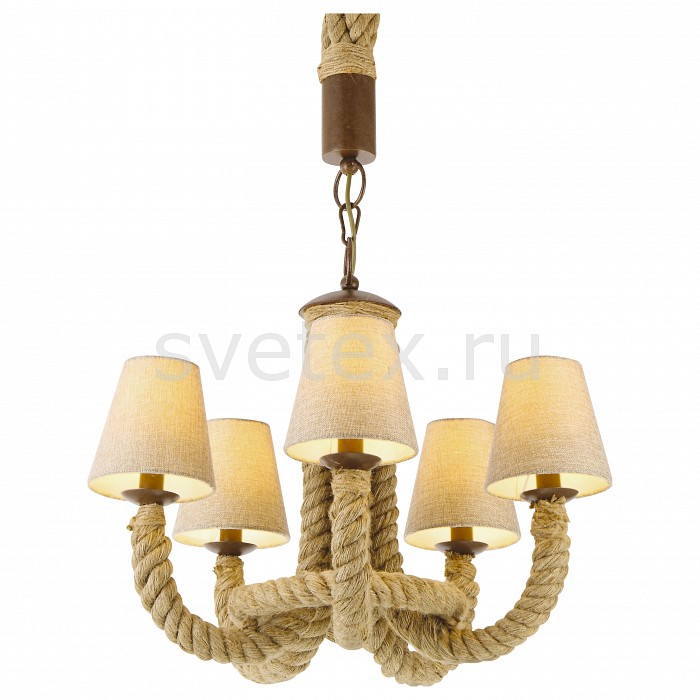 Фото Подвесная люстра Arte Lamp Corda A8958LM-5BR
