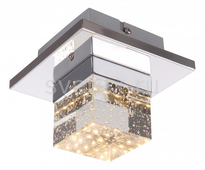 Накладной светильник GloboКвадратные<br>Артикул - GB_42505-1,Бренд - Globo (Австрия),Коллекция - Macan,Гарантия, месяцы - 24,Длина, мм - 130,Ширина, мм - 130,Выступ, мм - 110,Размер упаковки, мм - 170x170x150,Тип лампы - светодиодная [LED],Общее кол-во ламп - 1,Напряжение питания лампы, В - 17,Максимальная мощность лампы, Вт - 5,Цвет лампы - белый теплый,Лампы в комплекте - светодиодная [LED],Цвет плафонов и подвесок - неокрашенный,Тип поверхности плафонов - прозрачный,Материал плафонов и подвесок - стекло,Цвет арматуры - хром,Тип поверхности арматуры - глянцевый,Материал арматуры - металл,Количество плафонов - 1,Возможность подлючения диммера - нельзя,Компоненты, входящие в комплект - трансформатор 17В,Цветовая температура, K - 3000 K,Световой поток, лм - 390,Экономичнее лампы накаливания - в 8.6 раза,Светоотдача, лм/Вт - 78,Класс электробезопасности - I,Напряжение питания, В - 220,Степень пылевлагозащиты, IP - 20,Диапазон рабочих температур - комнатная температура,Дополнительные параметры - способ крепления светильника к потолку и стене - на монтажной пластине<br>