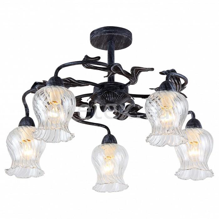 Люстра на штанге FavouriteЛюстры<br>Артикул - FV_1614-5U,Бренд - Favourite (Германия),Коллекция - Fleur,Гарантия, месяцы - 24,Высота, мм - 340,Диаметр, мм - 520,Тип лампы - компактная люминесцентная [КЛЛ] ИЛИнакаливания ИЛИсветодиодная [LED],Общее кол-во ламп - 5,Напряжение питания лампы, В - 220,Максимальная мощность лампы, Вт - 40,Лампы в комплекте - отсутствуют,Цвет плафонов и подвесок - неокрашенный,Тип поверхности плафонов - прозрачный, рельефный,Материал плафонов и подвесок - стекло,Цвет арматуры - черный с серой патиной,Тип поверхности арматуры - матовый,Материал арматуры - металл,Количество плафонов - 5,Возможность подлючения диммера - можно, если установить лампу накаливания,Тип цоколя лампы - E14,Класс электробезопасности - I,Общая мощность, Вт - 200,Степень пылевлагозащиты, IP - 20,Диапазон рабочих температур - комнатная температура,Дополнительные параметры - способ крепления к потолку - на монтажной пластине<br>