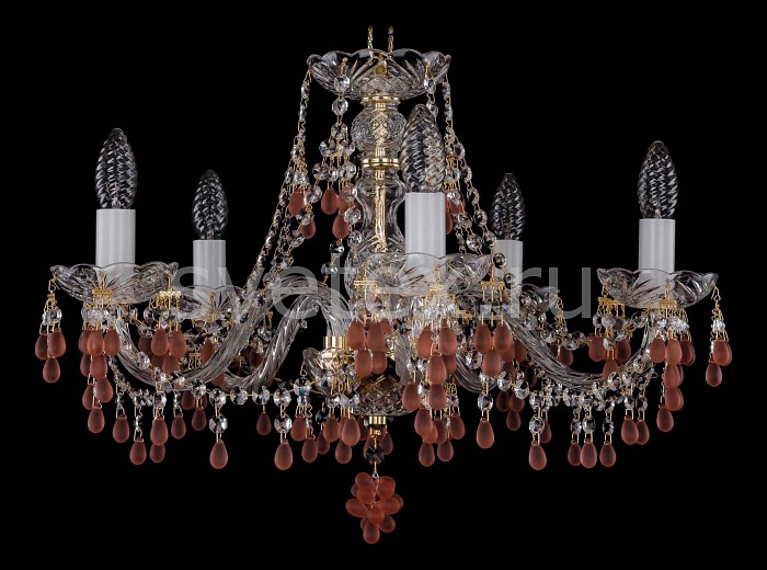 Фото Подвесная люстра Bohemia Ivele Crystal 1410 1410/5/195/G/7010