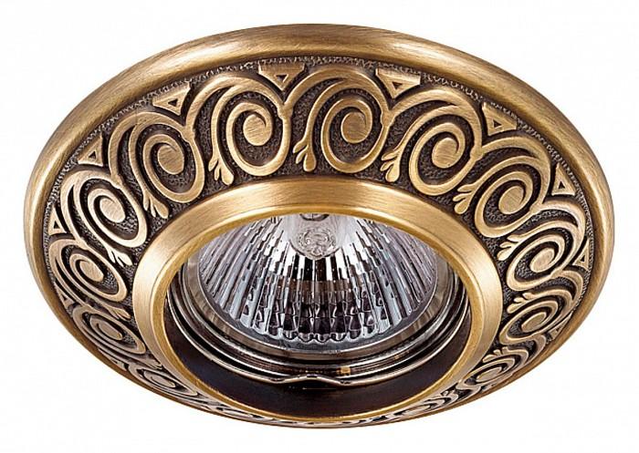 Встраиваемый светильник NovotechВстраиваемые светильники<br>Артикул - NV_370000,Бренд - Novotech (Венгрия),Коллекция - Vintage,Гарантия, месяцы - 24,Время изготовления, дней - 1,Глубина, мм - 17,Диаметр, мм - 100,Размер врезного отверстия, мм - 70,Тип лампы - галогеновая ИЛИсветодиодная [LED],Общее кол-во ламп - 1,Напряжение питания лампы, В - 12,Максимальная мощность лампы, Вт - 50,Лампы в комплекте - отсутствуют,Цвет арматуры - бронза,Тип поверхности арматуры - глянцевый, рельефный,Материал арматуры - цинк,Необходимые компоненты - трансформатор 12В,Компоненты, входящие в комплект - нет,Форма и тип колбы - полусферическая с рефлектором,Тип цоколя лампы - GX5.3,Класс электробезопасности - III,Напряжение питания, В - 220,Степень пылевлагозащиты, IP - 20,Диапазон рабочих температур - комнатная температура,Дополнительные параметры - цинк с электролитным медным покрытием<br>