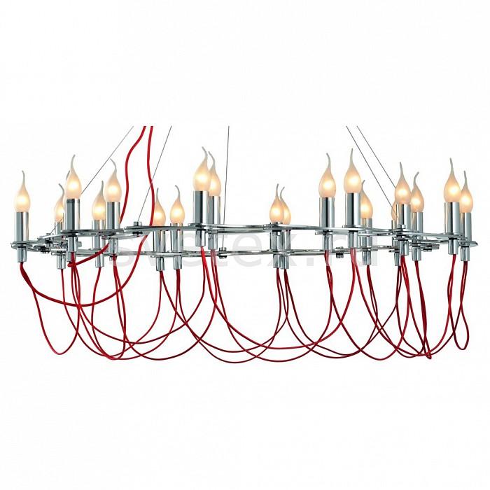 Подвесная люстра DivinareЛюстры<br>Артикул - DV_8777_02_LM-20,Бренд - Divinare (Италия),Коллекция - Capillari,Гарантия, месяцы - 24,Высота, мм - 1200,Диаметр, мм - 700-1000,Тип лампы - компактная люминесцентная [КЛЛ] ИЛИнакаливания ИЛИсветодиодная [LED],Общее кол-во ламп - 20,Напряжение питания лампы, В - 220,Максимальная мощность лампы, Вт - 40,Лампы в комплекте - отсутствуют,Цвет арматуры - красный, хром,Тип поверхности арматуры - глянцевый,Материал арматуры - металл,Возможность подлючения диммера - можно, если установить лампу накаливания,Форма и тип колбы - свеча ИЛИ свеча на ветру,Тип цоколя лампы - E14,Класс электробезопасности - I,Общая мощность, Вт - 800,Степень пылевлагозащиты, IP - 20,Диапазон рабочих температур - комнатная температура,Дополнительные параметры - способ крепления светильника к потолку - на монтажной пластине, регулируется по ширине<br>