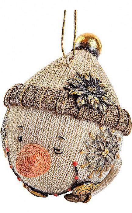 Елочный шар Mister ChristmasЕлочные игрушки<br>Артикул - MC_SM-21B,Бренд - Mister Christmas (Россия),Коллекция - SM-21,Высота, мм - 100,Высота - 10 см,Цвет - бежевый, белый,Материал - полистоун<br>