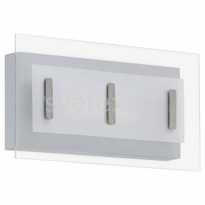 Накладной светильник EgloНакладные светильники<br>Артикул - EG_94398,Бренд - Eglo (Австрия),Коллекция - Mirano,Гарантия, месяцы - 60,Длина, мм - 330,Ширина, мм - 180,Выступ, мм - 60,Тип лампы - светодиодная [LED],Общее кол-во ламп - 2,Напряжение питания лампы, В - 220,Максимальная мощность лампы, Вт - 3.7,Цвет лампы - белый теплый,Лампы в комплекте - светодиодные [LED],Цвет плафонов и подвесок - белый, неокрашенный,Тип поверхности плафонов - матовый, прозрачный,Материал плафонов и подвесок - стекло,Цвет арматуры - серебро,Тип поверхности арматуры - матовый,Материал арматуры - сталь оцинкованная гальванически,Количество плафонов - 1,Цветовая температура, K - 3200 K,Световой поток, лм - 640,Экономичнее лампы накаливания - в 8.1 раза,Светоотдача, лм/Вт - 86,Класс электробезопасности - I,Общая мощность, Вт - 7,Степень пылевлагозащиты, IP - 44,Диапазон рабочих температур - от -40^C до +40^C,Дополнительные параметры - способ крепления светильника к стене и потолку – на монтажной пластине<br>