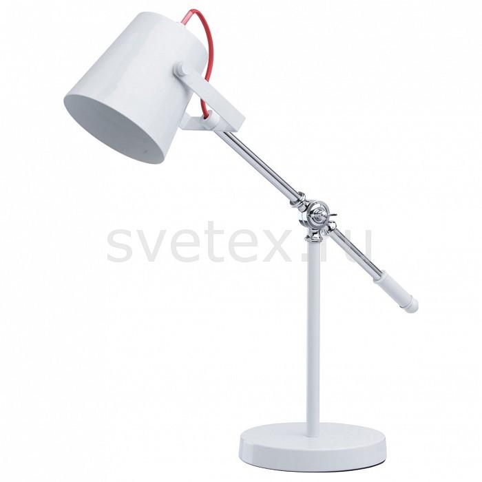 Настольная лампа MW-LightАртикул - MW_680030701,Бренд - MW-Light (Германия),Коллекция - Акцент 5,Гарантия, месяцы - 24,Ширина, мм - 190,Высота, мм - 630,Выступ, мм - 600,Диаметр, мм - 190,Тип лампы - компактная люминесцентная [КЛЛ] ИЛИнакаливания ИЛИсветодиодная [LED],Общее кол-во ламп - 1,Напряжение питания лампы, В - 220,Максимальная мощность лампы, Вт - 40,Лампы в комплекте - отсутствуют,Цвет плафонов и подвесок - белый,Тип поверхности плафонов - матовый,Материал плафонов и подвесок - металл,Цвет арматуры - белый, хром,Тип поверхности арматуры - глянцевый, матовый,Материал арматуры - металл,Количество плафонов - 1,Наличие выключателя, диммера или пульта ДУ - выключатель на проводе,Компоненты, входящие в комплект - провод электропитания с вилкой без заземления,Тип цоколя лампы - E14,Класс электробезопасности - II,Степень пылевлагозащиты, IP - 20,Диапазон рабочих температур - комнатная температура,Дополнительные параметры - поворотный светильник<br>