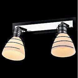 Спот EurosvetС 2 лампами<br>Артикул - EV_76510,Бренд - Eurosvet (Китай),Коллекция - Гермес,Гарантия, месяцы - 24,Тип лампы - компактная люминесцентная [КЛЛ] ИЛИнакаливания ИЛИсветодиодная [LED],Общее кол-во ламп - 2,Напряжение питания лампы, В - 220,Максимальная мощность лампы, Вт - 40,Лампы в комплекте - отсутствуют,Цвет плафонов и подвесок - белый,Тип поверхности плафонов - матовый,Материал плафонов и подвесок - стекло,Цвет арматуры - венге, хром,Тип поверхности арматуры - глянцевый, матовый,Материал арматуры - металл,Возможность подлючения диммера - можно, если установить лампу накаливания,Тип цоколя лампы - E14,Класс электробезопасности - I,Общая мощность, Вт - 80,Степень пылевлагозащиты, IP - 20,Диапазон рабочих температур - комнатная температура,Дополнительные параметры - способ крепления светильника к потолку и стене - на монтажной пластине, поворотный светильник<br>