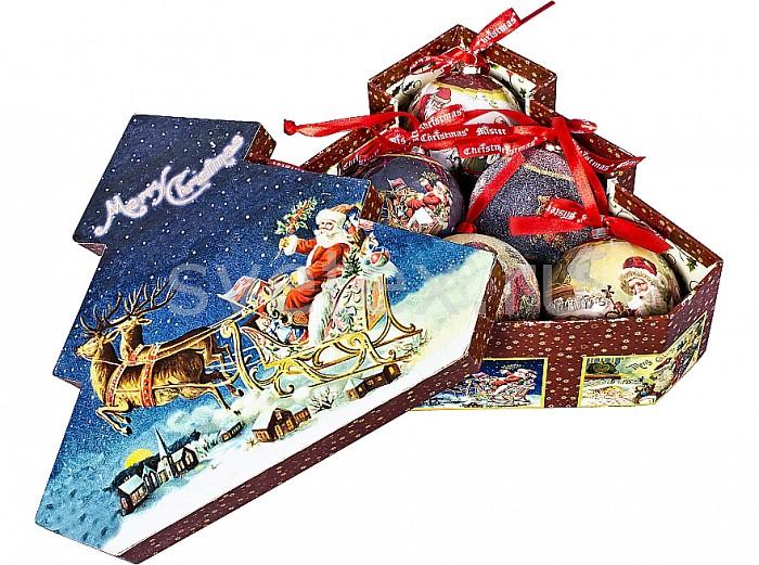 Елочный шар Mister ChristmasЕлочные игрушки<br>Артикул - MC_PM-41-6T,Бренд - Mister Christmas (Россия),Коллекция - PM-41,Диаметр, мм - 75,Диаметр - 7.5 см,Цвет - синий, бордовый,Материал - папье-маше<br>
