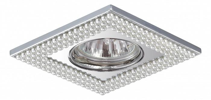 Встраиваемый светильник NovotechСветильники для натяжных потолков<br>Артикул - NV_370144,Бренд - Novotech (Венгрия),Коллекция - Pearl,Гарантия, месяцы - 24,Время изготовления, дней - 1,Длина, мм - 102,Ширина, мм - 102,Глубина, мм - 16,Размер врезного отверстия, мм - 75,Тип лампы - галогеновая ИЛИсветодиодная [LED],Общее кол-во ламп - 1,Напряжение питания лампы, В - 12,Максимальная мощность лампы, Вт - 50,Лампы в комплекте - отсутствуют,Цвет арматуры - белый, хром,Тип поверхности арматуры - глянцевый, рельефный,Материал арматуры - искусственный жемчуг, цинк,Необходимые компоненты - трансформатор 12В,Компоненты, входящие в комплект - нет,Форма и тип колбы - полусферическая с рефлектором,Тип цоколя лампы - GX5.3,Класс электробезопасности - III,Напряжение питания, В - 220,Степень пылевлагозащиты, IP - 20,Диапазон рабочих температур - комнатная температура,Дополнительные параметры - поворотный светильник — угол поворота 30°<br>