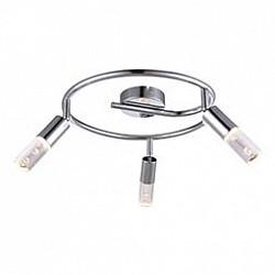 Спот GloboС 3 лампами<br>Артикул - GB_56199-3,Бренд - Globo (Австрия),Коллекция - Peru,Гарантия, месяцы - 24,Диаметр, мм - 300,Размер упаковки, мм - 320x110x325,Тип лампы - светодиодная [LED],Общее кол-во ламп - 3,Напряжение питания лампы, В - 180,Максимальная мощность лампы, Вт - 4,Лампы в комплекте - светодиодные [LED],Цвет плафонов и подвесок - неокрашенный,Тип поверхности плафонов - прозрачный,Материал плафонов и подвесок - акрил,Цвет арматуры - хром,Тип поверхности арматуры - глянцевый,Материал арматуры - металл,Возможность подлючения диммера - нельзя,Класс электробезопасности - I,Общая мощность, Вт - 12,Степень пылевлагозащиты, IP - 20,Диапазон рабочих температур - комнатная температура,Дополнительные параметры - способ крепления светильника к стене и потолку - на монтажной пластине, поворотный светильник<br>