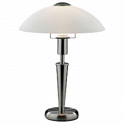 Настольная лампа Odeon LightСтеклянный плафон<br>Артикул - OD_2154_1T,Бренд - Odeon Light (Италия),Коллекция - Parma,Гарантия, месяцы - 24,Время изготовления, дней - 1,Высота, мм - 360,Диаметр, мм - 260,Тип лампы - компактная люминесцентная [КЛЛ] ИЛИнакаливания ИЛИсветодиодная [LED],Общее кол-во ламп - 1,Напряжение питания лампы, В - 220,Максимальная мощность лампы, Вт - 60,Лампы в комплекте - отсутствуют,Цвет плафонов и подвесок - белый,Тип поверхности плафонов - матовый,Материал плафонов и подвесок - стекло,Цвет арматуры - никель,Тип поверхности арматуры - глянцевый,Материал арматуры - металл,Тип цоколя лампы - E14,Класс электробезопасности - II,Степень пылевлагозащиты, IP - 20,Диапазон рабочих температур - комнатная температура<br>