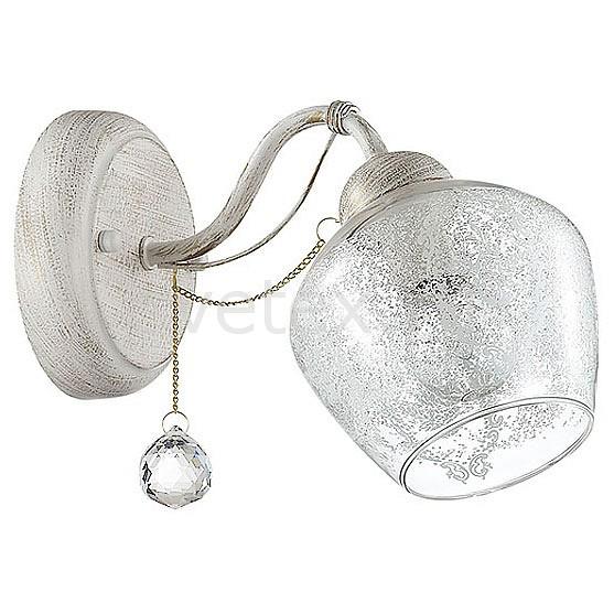 Бра LumionНастенные светильники<br>Артикул - LMN_3124_1W,Бренд - Lumion (Италия),Коллекция - Irena,Гарантия, месяцы - 24,Ширина, мм - 130,Высота, мм - 240,Выступ, мм - 160,Размер упаковки, мм - 145x230x280,Тип лампы - компактная люминесцентная [КЛЛ] ИЛИнакаливания ИЛИсветодиодная [LED],Общее кол-во ламп - 1,Напряжение питания лампы, В - 220,Максимальная мощность лампы, Вт - 40,Лампы в комплекте - отсутствуют,Цвет плафонов и подвесок - неокрашенный с белым рисунком,Тип поверхности плафонов - матовый, прозрачный,Материал плафонов и подвесок - стекло, хрусталь,Цвет арматуры - белый с золотой патиной,Тип поверхности арматуры - матовый,Материал арматуры - металл,Количество плафонов - 1,Возможность подлючения диммера - можно, если установить лампу накаливания,Тип цоколя лампы - E14,Класс электробезопасности - I,Степень пылевлагозащиты, IP - 20,Диапазон рабочих температур - комнатная температура,Дополнительные параметры - способ крепления светильника на стене – на монтажной пластине, светильник предназначен для использования со скрытой проводкой<br>