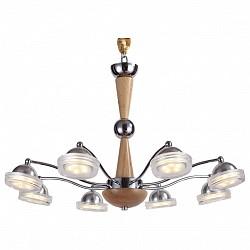 Подвесная люстра Lucia TucciДеревянные<br>Артикул - LT_Natura_067.8_Led,Бренд - Lucia Tucci (Италия),Коллекция - Natura,Гарантия, месяцы - 24,Высота, мм - 810,Диаметр, мм - 660,Тип лампы - светодиодная [LED],Общее кол-во ламп - 8,Напряжение питания лампы, В - 220,Максимальная мощность лампы, Вт - 5,Лампы в комплекте - светодиодные [LED],Цвет плафонов и подвесок - неокрашенный,Тип поверхности плафонов - прозрачный,Материал плафонов и подвесок - стекло,Цвет арматуры - сосна, хром,Тип поверхности арматуры - глянцевый, матовый,Материал арматуры - дерево, металл,Возможность подлючения диммера - нельзя,Класс электробезопасности - I,Общая мощность, Вт - 40,Степень пылевлагозащиты, IP - 20,Диапазон рабочих температур - комнатная температура,Дополнительные параметры - регулируется по высоте,  способ крепления светильника к потолку – на монтажной пластине<br>
