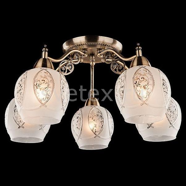 Потолочная люстра EurosvetЛюстры<br>Артикул - EV_73987,Бренд - Eurosvet (Китай),Коллекция - 70026,Гарантия, месяцы - 24,Высота, мм - 250,Диаметр, мм - 550,Тип лампы - компактная люминесцентная [КЛЛ] ИЛИнакаливания ИЛИсветодиодная [LED],Общее кол-во ламп - 5,Напряжение питания лампы, В - 220,Максимальная мощность лампы, Вт - 60,Лампы в комплекте - отсутствуют,Цвет плафонов и подвесок - белый с рисунком,Тип поверхности плафонов - матовый,Материал плафонов и подвесок - стекло,Цвет арматуры - бронза античная,Тип поверхности арматуры - матовый, рельефный,Материал арматуры - металл,Количество плафонов - 5,Возможность подлючения диммера - можно, если установить лампу накаливания,Тип цоколя лампы - E27,Класс электробезопасности - I,Общая мощность, Вт - 300,Степень пылевлагозащиты, IP - 20,Диапазон рабочих температур - комнатная температура,Дополнительные параметры - способ крепления светильника к потолку - на монтажной пластине<br>