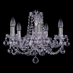 Подвесная люстра Bohemia Ivele Crystal5 или 6 ламп<br>Артикул - BI_1402_5_141_Ni_Balls,Бренд - Bohemia Ivele Crystal (Чехия),Коллекция - 1402,Гарантия, месяцы - 24,Высота, мм - 340,Диаметр, мм - 440,Размер упаковки, мм - 450x450x200,Тип лампы - компактная люминесцентная [КЛЛ] ИЛИнакаливания ИЛИсветодиодная [LED],Общее кол-во ламп - 5,Напряжение питания лампы, В - 220,Максимальная мощность лампы, Вт - 40,Лампы в комплекте - отсутствуют,Цвет плафонов и подвесок - неокрашенный,Тип поверхности плафонов - прозрачный,Материал плафонов и подвесок - хрусталь,Цвет арматуры - неокрашенный, никель,Тип поверхности арматуры - глянцевый, прозрачный,Материал арматуры - металл, стекло,Возможность подлючения диммера - можно, если установить лампу накаливания,Форма и тип колбы - свеча,Тип цоколя лампы - E14,Класс электробезопасности - I,Общая мощность, Вт - 200,Степень пылевлагозащиты, IP - 20,Диапазон рабочих температур - комнатная температура,Дополнительные параметры - способ крепления светильника к потолку – на крюке<br>