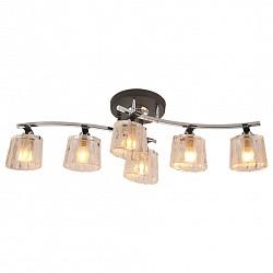 Потолочная люстра IDLamp5 или 6 ламп<br>Артикул - ID_214_6PF-Blackchrome,Бренд - IDLamp (Италия),Коллекция - 214,Время изготовления, дней - 1,Высота, мм - 220,Тип лампы - компактная люминесцентная [КЛЛ] ИЛИнакаливания ИЛИсветодиодная [LED],Общее кол-во ламп - 6,Напряжение питания лампы, В - 220,Максимальная мощность лампы, Вт - 60,Лампы в комплекте - отсутствуют,Цвет плафонов и подвесок - белый полосатый,Тип поверхности плафонов - прозрачный,Материал плафонов и подвесок - стекло,Цвет арматуры - хром, черный,Тип поверхности арматуры - глянцевый, матовый,Материал арматуры - металл,Возможность подлючения диммера - можно, если установить лампу накаливания,Тип цоколя лампы - E14,Класс электробезопасности - I,Общая мощность, Вт - 360,Степень пылевлагозащиты, IP - 20,Диапазон рабочих температур - комнатная температура,Дополнительные параметры - способ крепления светильника к потолку – на монтажной пластине<br>