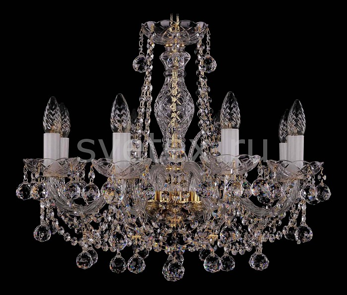 Фото Подвесная люстра Bohemia Ivele Crystal 1411 1411/8/195/G/Balls