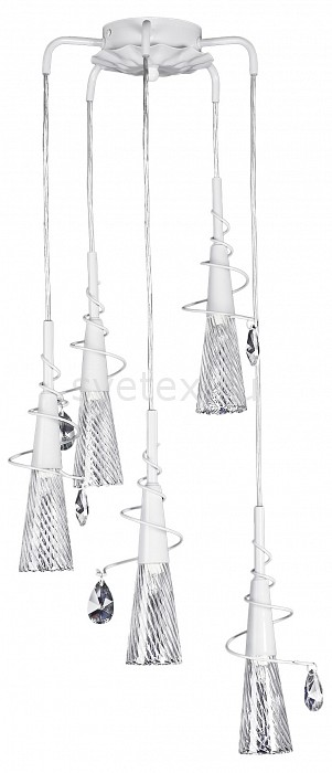 Подвесной светильник LightstarБарные<br>Артикул - LS_711050,Бренд - Lightstar (Италия),Коллекция - Aereo,Гарантия, месяцы - 24,Ширина, мм - 350-1000,Глубина, мм - 300,Тип лампы - галогеновая,Общее кол-во ламп - 5,Напряжение питания лампы, В - 220,Максимальная мощность лампы, Вт - 40,Цвет лампы - белый теплый,Лампы в комплекте - галогеновые G9,Цвет плафонов и подвесок - неокрашенный,Тип поверхности плафонов - прозрачный, рельефный,Материал плафонов и подвесок - стекло,Цвет арматуры - белый,Тип поверхности арматуры - матовый,Материал арматуры - металл,Количество плафонов - 5,Возможность подлючения диммера - можно,Форма и тип колбы - пальчиковая,Тип цоколя лампы - G9,Цветовая температура, K - 2800 - 3200 K,Экономичнее лампы накаливания - на 50%,Класс электробезопасности - I,Общая мощность, Вт - 200,Степень пылевлагозащиты, IP - 20,Диапазон рабочих температур - комнатная температура,Дополнительные параметры - способ крепления светильника к потолку - на монтажной пластине, регулируется по высотеъ<br>