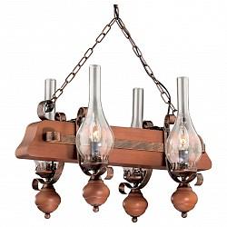 Подвесная люстра Odeon LightДеревянные<br>Артикул - OD_2620_4,Бренд - Odeon Light (Италия),Коллекция - Lato,Гарантия, месяцы - 24,Время изготовления, дней - 1,Высота, мм - 380,Тип лампы - компактная люминесцентная [КЛЛ] ИЛИнакаливания ИЛИсветодиодная [LED],Общее кол-во ламп - 4,Напряжение питания лампы, В - 220,Максимальная мощность лампы, Вт - 40,Лампы в комплекте - отсутствуют,Цвет плафонов и подвесок - неокрашенный,Тип поверхности плафонов - прозрачный,Материал плафонов и подвесок - стекло,Цвет арматуры - орех, медь,Тип поверхности арматуры - матовый,Материал арматуры - дерево, металл,Возможность подлючения диммера - можно, если установить лампу накаливания,Форма и тип колбы - свеча,Тип цоколя лампы - E14,Класс электробезопасности - I,Общая мощность, Вт - 160,Степень пылевлагозащиты, IP - 20,Диапазон рабочих температур - комнатная температура,Дополнительные параметры - указана высота светильника без подвеса, стиль кантри<br>