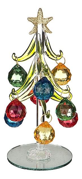 Ель новогодняя с елочными игрушками АРТИ-МЕлочные игрушки<br>Артикул - art_594-103,Бренд - АРТИ-М (Россия),Коллекция - ART 594,Высота, мм - 150,Цвет - зеленый, красный, хром,Материал - стекло,Компоненты, входящие в комплект - ель новогодняя;9 елочных игрушек<br>