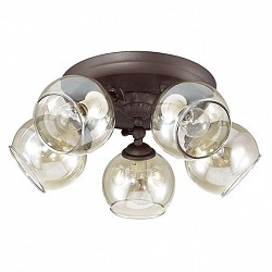 Спот LumionБолее 4 ламп<br>Артикул - LMN_3100_5CA,Бренд - Lumion (Италия),Коллекция - Clodina,Гарантия, месяцы - 24,Диаметр, мм - 420,Размер упаковки, мм - 170x375x250,Тип лампы - компактная люминесцентная [КЛЛ] ИЛИнакаливания ИЛИсветодиодная [LED],Общее кол-во ламп - 5,Напряжение питания лампы, В - 220,Максимальная мощность лампы, Вт - 40,Лампы в комплекте - отсутствуют,Цвет плафонов и подвесок - янтарный,Тип поверхности плафонов - прозрачный,Материал плафонов и подвесок - стекло,Цвет арматуры - кофе,Тип поверхности арматуры - матовый,Материал арматуры - металл,Возможность подлючения диммера - можно, если установить лампу накаливания,Тип цоколя лампы - E14,Класс электробезопасности - I,Общая мощность, Вт - 200,Степень пылевлагозащиты, IP - 20,Диапазон рабочих температур - комнатная температура,Дополнительные параметры - способ крепления к потолку и стене - на монтажной пластине, поворотный светильник<br>