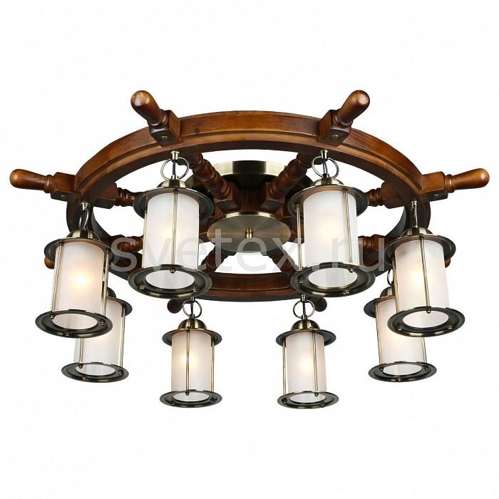 Потолочная люстра OmniluxЛюстры<br>Артикул - OM_OML-50307-08,Бренд - Omnilux (Италия),Коллекция - OML-503,Гарантия, месяцы - 24,Высота, мм - 300,Диаметр, мм - 850,Тип лампы - компактная люминесцентная [КЛЛ] ИЛИнакаливания ИЛИсветодиодная [LED],Общее кол-во ламп - 8,Напряжение питания лампы, В - 220,Максимальная мощность лампы, Вт - 60,Лампы в комплекте - отсутствуют,Цвет плафонов и подвесок - белый,Тип поверхности плафонов - матовый,Материал плафонов и подвесок - стекло,Цвет арматуры - бронза античная, дуб,Тип поверхности арматуры - матовый,Материал арматуры - металл,Количество плафонов - 8,Возможность подлючения диммера - можно, если установить лампу накаливания,Тип цоколя лампы - E27,Экономичнее лампы накаливания - Ошибка:508,Класс электробезопасности - I,Общая мощность, Вт - 480,Степень пылевлагозащиты, IP - 20,Диапазон рабочих температур - комнатная температура,Дополнительные параметры - способ крепления светильника к потолку – на монтажной пластине, стиль кантри<br>