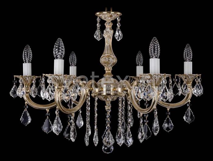 Фото Подвесная люстра Bohemia Ivele Crystal 1702 1702/6/B/GW/Leafs