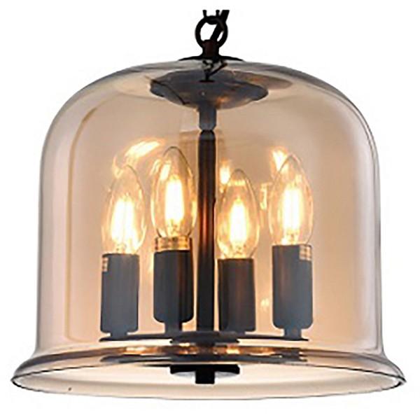 Подвесной светильник Crystal LuxДля кухни<br>Артикул - CU_2160_204,Бренд - Crystal Lux (Испания),Коллекция - Krus,Гарантия, месяцы - 24,Высота, мм - 300-900,Диаметр, мм - 305,Тип лампы - компактная люминесцентная [КЛЛ] ИЛИнакаливания ИЛИсветодиодная [LED],Общее кол-во ламп - 4,Напряжение питания лампы, В - 220,Максимальная мощность лампы, Вт - 60,Лампы в комплекте - отсутствуют,Цвет плафонов и подвесок - дымчатый,Тип поверхности плафонов - прозрачный,Материал плафонов и подвесок - стекло,Цвет арматуры - медь,Тип поверхности арматуры - матовый,Материал арматуры - металл,Количество плафонов - 1,Возможность подлючения диммера - можно, если установить лампу накаливания,Тип цоколя лампы - E14,Класс электробезопасности - I,Общая мощность, Вт - 240,Степень пылевлагозащиты, IP - 20,Диапазон рабочих температур - комнатная температура,Дополнительные параметры - регулируется по высоте,  способ крепления светильника к потолку – на монтажной пластине<br>