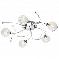 Потолочная люстра GloboПолимерные плафоны<br>Артикул - GB_56392-5D,Бренд - Globo (Австрия),Коллекция - Orlene,Гарантия, месяцы - 24,Высота, мм - 130,Диаметр, мм - 580,Тип лампы - галогеновая,Общее кол-во ламп - 5,Напряжение питания лампы, В - 220,Максимальная мощность лампы, Вт - 28,Лампы в комплекте - галогеновые G9,Цвет плафонов и подвесок - белый с неокрашенным рисунком, неокрашенный,Тип поверхности плафонов - матовый,Материал плафонов и подвесок - акрил, стекло,Цвет арматуры - хром,Тип поверхности арматуры - глянцевый,Материал арматуры - металл,Возможность подлючения диммера - можно,Форма и тип колбы - пальчиковая,Тип цоколя лампы - G9,Класс электробезопасности - I,Общая мощность, Вт - 140,Степень пылевлагозащиты, IP - 20,Диапазон рабочих температур - комнатная температура<br>