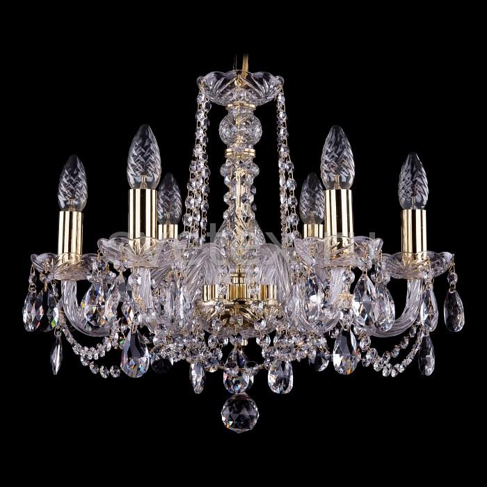 Фото Подвесная люстра Bohemia Ivele Crystal 1402 1402/6/160/G