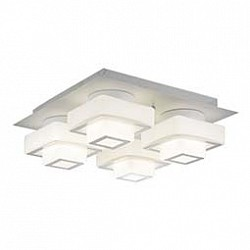 Накладной светильник ST-LuceКвадратные<br>Артикул - SL547.502.04,Бренд - ST-Luce (Китай),Коллекция - Сubico,Гарантия, месяцы - 24,Время изготовления, дней - 1,Высота, мм - 180,Размер упаковки, мм - 500х500х280,Тип лампы - светодиодная [LED],Общее кол-во ламп - 4,Напряжение питания лампы, В - 220,Максимальная мощность лампы, Вт - 12,Лампы в комплекте - светодиодные [LED],Цвет плафонов и подвесок - белый, хром,Тип поверхности плафонов - глянцевый,Материал плафонов и подвесок - стекло,Цвет арматуры - белый,Тип поверхности арматуры - матовый,Материал арматуры - металл,Возможность подлючения диммера - нельзя,Класс электробезопасности - I,Общая мощность, Вт - 48,Степень пылевлагозащиты, IP - 20,Диапазон рабочих температур - комнатная температура,Дополнительные параметры - способ крепления светильника к потолку - на монтажной пластине<br>