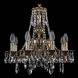 Подвесная люстра Bohemia Ivele CrystalБолее 6 ламп<br>Артикул - BI_1771_8_150_A_GB,Бренд - Bohemia Ivele Crystal (Чехия),Коллекция - 1771,Гарантия, месяцы - 24,Высота, мм - 420,Диаметр, мм - 500,Размер упаковки, мм - 450x450x200,Тип лампы - компактная люминесцентная [КЛЛ] ИЛИнакаливания ИЛИсветодиодная [LED],Общее кол-во ламп - 8,Напряжение питания лампы, В - 220,Максимальная мощность лампы, Вт - 40,Лампы в комплекте - отсутствуют,Цвет плафонов и подвесок - неокрашенный,Тип поверхности плафонов - прозрачный,Материал плафонов и подвесок - хрусталь,Цвет арматуры - золото черненое,Тип поверхности арматуры - глянцевый, рельефный,Материал арматуры - латунь,Возможность подлючения диммера - можно, если установить лампу накаливания,Форма и тип колбы - свеча ИЛИ свеча на ветру,Тип цоколя лампы - E14,Класс электробезопасности - I,Общая мощность, Вт - 320,Степень пылевлагозащиты, IP - 20,Диапазон рабочих температур - комнатная температура,Дополнительные параметры - способ крепления светильника к потолку - на крюке, указана высота светильника без подвеса<br>