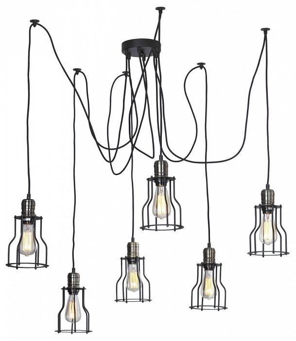 Подвесная люстра LussoleЛюстры<br>Артикул - LSP-9310,Бренд - Lussole (Италия),Коллекция - Loft,Гарантия, месяцы - 24,Время изготовления, дней - 1,Высота, мм - 1200,Диаметр, мм - 600,Тип лампы - накаливания,Общее кол-во ламп - 6,Напряжение питания лампы, В - 220,Максимальная мощность лампы, Вт - 60,Цвет лампы - белый теплый,Лампы в комплекте - накаливания E27 GF-E-764,Цвет арматуры - бронза, черный,Тип поверхности арматуры - глянцевый, матовый,Материал арматуры - металл,Возможность подлючения диммера - можно,Форма и тип колбы - конусная,Тип цоколя лампы - E27,Цветовая температура, K - 2800 K,Класс электробезопасности - I,Общая мощность, Вт - 360,Степень пылевлагозащиты, IP - 20,Диапазон рабочих температур - комнатная температура,Дополнительные параметры - стиль Кантри<br>