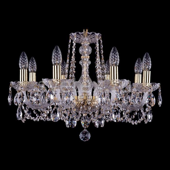 Фото Подвесная люстра Bohemia Ivele Crystal 1402 1402/8/195/G