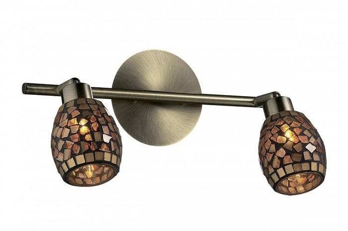 Спот Odeon LightСпоты<br>Артикул - OD_2167_2W,Бренд - Odeon Light (Италия),Коллекция - Glosse,Гарантия, месяцы - 24,Время изготовления, дней - 1,Длина, мм - 325,Выступ, мм - 190,Тип лампы - галогеновая,Общее кол-во ламп - 2,Напряжение питания лампы, В - 220,Максимальная мощность лампы, Вт - 40,Цвет лампы - белый теплый,Лампы в комплекте - галогеновые G9,Цвет плафонов и подвесок - коричневый,Тип поверхности плафонов - глянцевый, рельефный,Материал плафонов и подвесок - стекло,Цвет арматуры - бронза,Тип поверхности арматуры - глянцевый,Материал арматуры - металл,Количество плафонов - 2,Возможность подлючения диммера - можно,Форма и тип колбы - пальчиковая,Тип цоколя лампы - G9,Цветовая температура, K - 2800 - 3200 K,Экономичнее лампы накаливания - на 50%,Класс электробезопасности - I,Общая мощность, Вт - 80,Степень пылевлагозащиты, IP - 20,Диапазон рабочих температур - комнатная температура,Дополнительные параметры - поворотный светильник, плафон выполнен в технике мозаика<br>