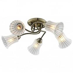 Потолочная люстра IDLamp5 или 6 ламп<br>Артикул - ID_245_5PF-Oldbronze,Бренд - IDLamp (Италия),Коллекция - 245,Время изготовления, дней - 1,Высота, мм - 240,Диаметр, мм - 580,Тип лампы - компактная люминесцентная [КЛЛ] ИЛИнакаливания ИЛИсветодиодная [LED],Общее кол-во ламп - 5,Напряжение питания лампы, В - 220,Максимальная мощность лампы, Вт - 60,Лампы в комплекте - отсутствуют,Цвет плафонов и подвесок - белый полосатый,Тип поверхности плафонов - матовый,Материал плафонов и подвесок - стекло,Цвет арматуры - бронза античная,Тип поверхности арматуры - глянцевый,Материал арматуры - металл,Возможность подлючения диммера - можно, если установить лампу накаливания,Тип цоколя лампы - E27,Класс электробезопасности - I,Общая мощность, Вт - 300,Степень пылевлагозащиты, IP - 20,Диапазон рабочих температур - комнатная температура,Дополнительные параметры - способ крепления светильника к потолку – на монтажной пластине<br>