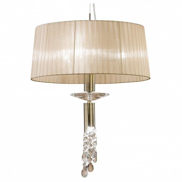 Подвесной светильник MantraСветильники<br>Артикул - MN_3878,Бренд - Mantra (Испания),Коллекция - Tiffany,Гарантия, месяцы - 24,Время изготовления, дней - 1,Высота, мм - 800-1500,Диаметр, мм - 460,Тип лампы - галогеновая, компактная люминесцентная [КЛЛ] ИЛИсветодиодные [LED],Количество ламп - 3, 1,Общее кол-во ламп - 4,Напряжение питания лампы, В - 220,Максимальная мощность лампы, Вт - 5, 20,Лампы в комплекте - отсутствуют,Цвет плафонов и подвесок - кремовый, неокрашенный,Тип поверхности плафонов - матовый, прозрачный,Материал плафонов и подвесок - органза, хрусталь,Цвет арматуры - бронза, неокрашенный,Тип поверхности арматуры - глянцевый, прозрачный,Материал арматуры - металл, стекло,Количество плафонов - 1,Возможность подлючения диммера - можно, если установить галогеновую лампу и лампу накаливания,Тип цоколя лампы - G9, E27,Класс электробезопасности - I,Общая мощность, Вт - 50,Степень пылевлагозащиты, IP - 20,Диапазон рабочих температур - комнатная температура<br>
