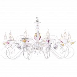 Подвесная люстра Arte LampПолимерные плафоны<br>Артикул - AR_A2061LM-10WG,Бренд - Arte Lamp (Италия),Коллекция - Fiorato,Высота, мм - 480-980,Диаметр, мм - 940,Тип лампы - компактная люминесцентная [КЛЛ] ИЛИнакаливания ИЛИсветодиодная [LED],Общее кол-во ламп - 10,Напряжение питания лампы, В - 220,Максимальная мощность лампы, Вт - 60,Лампы в комплекте - отсутствуют,Цвет плафонов и подвесок - белый с цветным рисунком,Тип поверхности плафонов - матовый,Материал плафонов и подвесок - керамика,Цвет арматуры - белый, белый с цветным рисунком, золото,Тип поверхности арматуры - глянцевый,Материал арматуры - керамика, металл,Возможность подлючения диммера - можно, если установить лампу накаливания,Форма и тип колбы - свеча ИЛИ свеча на ветру,Тип цоколя лампы - E14,Класс электробезопасности - I,Общая мощность, Вт - 600,Степень пылевлагозащиты, IP - 20,Диапазон рабочих температур - комнатная температура,Дополнительные параметры - способ крепления светильника к потолку – на монтажной пластине или крюке<br>
