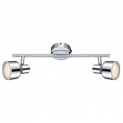 Бра GloboПолимерный плафон<br>Артикул - GB_56213-2,Бренд - Globo (Австрия),Коллекция - Rois,Гарантия, месяцы - 24,Высота, мм - 120,Тип лампы - светодиодная [LED],Общее кол-во ламп - 2,Напряжение питания лампы, В - 126,Максимальная мощность лампы, Вт - 4,Лампы в комплекте - светодиодные [LED],Цвет плафонов и подвесок - неокрашенный, хром,Тип поверхности плафонов - глянцевый, прозрачный,Материал плафонов и подвесок - металл, полимер,Цвет арматуры - хром,Тип поверхности арматуры - глянцевый,Материал арматуры - металл,Класс электробезопасности - I,Общая мощность, Вт - 8,Степень пылевлагозащиты, IP - 20,Диапазон рабочих температур - комнатная температура,Дополнительные параметры - поворотный светильник<br>