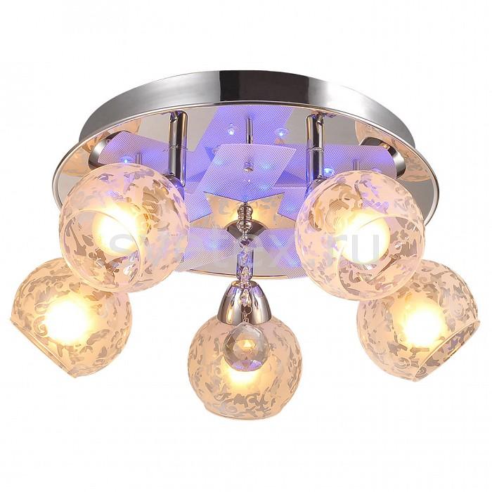 Накладной светильник IDLampСветодиодные<br>Артикул - ID_200_5PF-Chrome,Бренд - IDLamp (Италия),Коллекция - 200,Время изготовления, дней - 1,Высота, мм - 200,Диаметр, мм - 460,Тип лампы - компактная люминесцентная [КЛЛ] ИЛИнакаливания ИЛИсветодиодная [LED],Общее кол-во ламп - 5,Напряжение питания лампы, В - 220,Максимальная мощность лампы, Вт - 60,Лампы в комплекте - отсутствуют,Цвет плафонов и подвесок - белый с рисунком, неокрашенный,Тип поверхности плафонов - матовый, прозрачный,Материал плафонов и подвесок - стекло,Цвет арматуры - хром,Тип поверхности арматуры - глянцевый,Материал арматуры - металл,Количество плафонов - 5,Наличие выключателя, диммера или пульта ДУ - пульт ДУ,Тип цоколя лампы - E14,Класс электробезопасности - I,Общая мощность, Вт - 300,Степень пылевлагозащиты, IP - 20,Диапазон рабочих температур - комнатная температура,Дополнительные параметры - поворотный светильник декорирован RGB светодиодами, способ крепления светильника к потолку – на монтажной пластине<br>