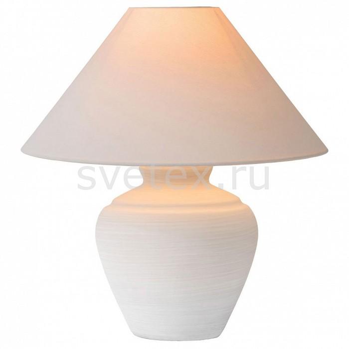 Настольная лампа декоративная LucideС абажуром<br>Артикул - LCD_44500_81_31,Бренд - Lucide (Бельгия),Коллекция - Bonjo,Гарантия, месяцы - 24,Высота, мм - 470,Диаметр, мм - 400,Тип лампы - компактная люминесцентная [КЛЛ] ИЛИнакаливания ИЛИсветодиодная [LED],Общее кол-во ламп - 1,Напряжение питания лампы, В - 220,Максимальная мощность лампы, Вт - 60,Лампы в комплекте - отсутствуют,Цвет плафонов и подвесок - белый,Тип поверхности плафонов - матовый,Материал плафонов и подвесок - текстиль,Цвет арматуры - белый,Тип поверхности арматуры - матовый,Материал арматуры - керамика, металл,Количество плафонов - 1,Компоненты, входящие в комплект - провод электропитания с вилкой без заземления,Тип цоколя лампы - E27,Класс электробезопасности - II,Степень пылевлагозащиты, IP - 20,Диапазон рабочих температур - комнатная температура<br>