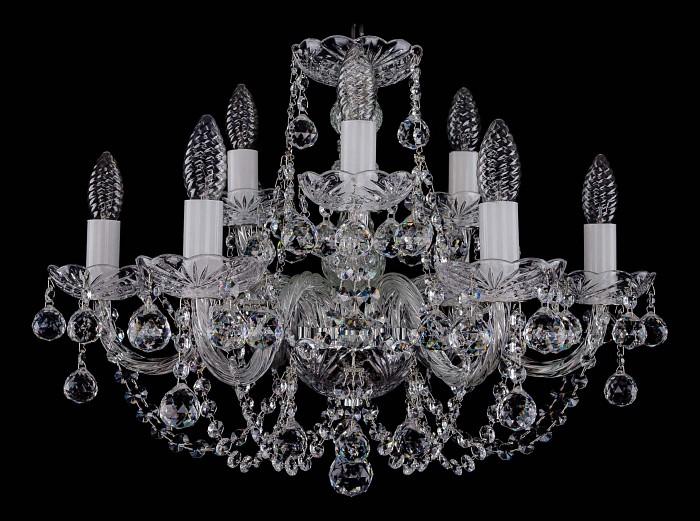 Фото Подвесная люстра Bohemia Ivele Crystal 1406 1406/6_3/195/Ni/Balls