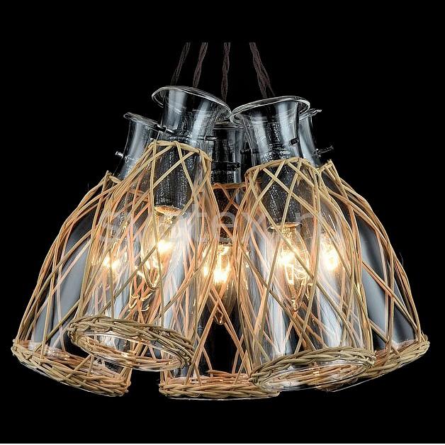Подвесной светильник MaytoniДеревянные<br>Артикул - MY_H099-05-B,Бренд - Maytoni (Германия),Коллекция - Rappe,Гарантия, месяцы - 24,Высота, мм - 1280-2310,Диаметр, мм - 340,Тип лампы - компактная люминесцентная [КЛЛ] ИЛИнакаливания ИЛИсветодиодная [LED],Общее кол-во ламп - 5,Напряжение питания лампы, В - 220,Максимальная мощность лампы, Вт - 40,Лампы в комплекте - отсутствуют,Цвет плафонов и подвесок - неокрашенный, светло-коричневый,Тип поверхности плафонов - прозрачный,Материал плафонов и подвесок - ротанг, стекло,Цвет арматуры - черный,Тип поверхности арматуры - матовый,Материал арматуры - металл,Количество плафонов - 5,Возможность подлючения диммера - можно, если установить лампу накаливания,Тип цоколя лампы - E14,Класс электробезопасности - I,Общая мощность, Вт - 200,Степень пылевлагозащиты, IP - 20,Диапазон рабочих температур - комнатная температура,Дополнительные параметры - способ крепления светильника к потолку - на монтажной пластине, регулируется по высоте<br>